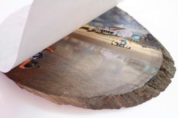 Diy wood slice photo transfer parental perspective for Printer transfer paper for wood