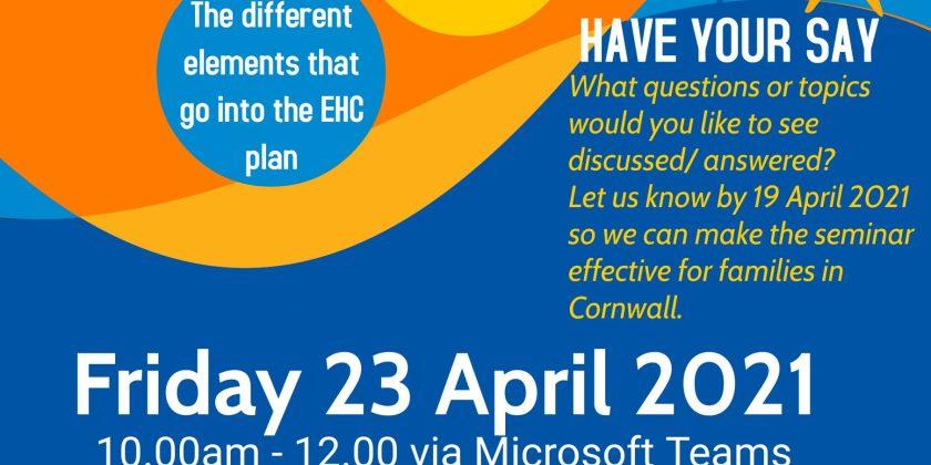 Statutory SEND Seminar – Friday 23 April 2021