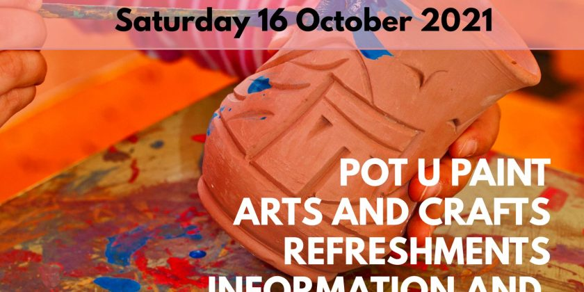 Together for Families and PCC Activity Pot U Paint – Roche 16 October 2021