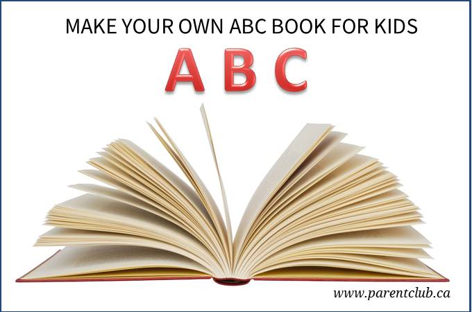 Make your own ABC book for kids via www.parentclub.ca