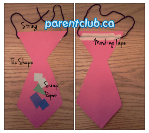 Father's Day Tie craft