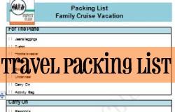 family travel packing list