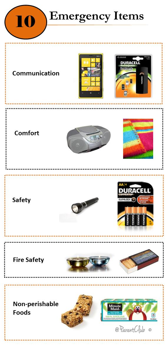 10 Emergency Items
