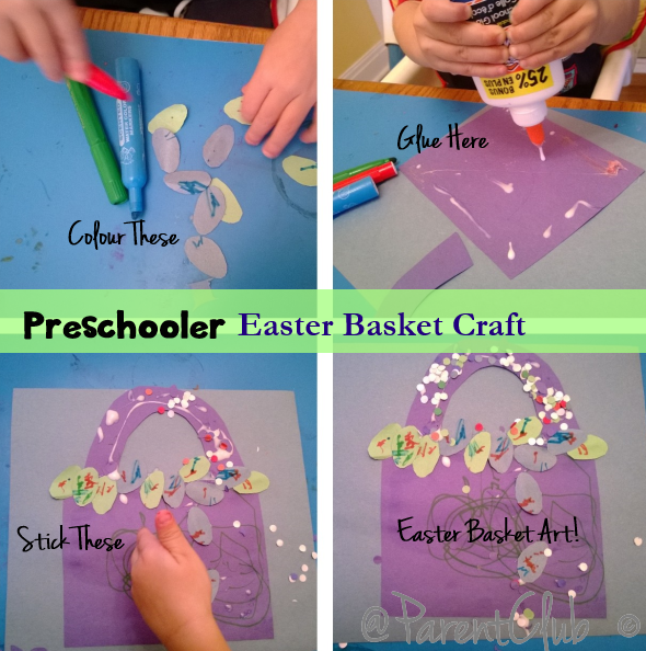 Preschooler Easter Basket Craft