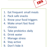 Tips For Living with IBS (Irritable Bowel Syndrome)