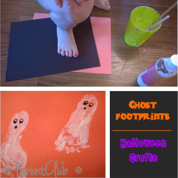 Ghost Footprints Halloween Crafts