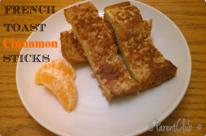 French Toast Cinnamon Sticks via www.parentclub.ca