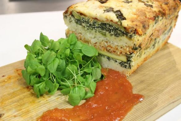 Veggie Rice Lasagna Loaf