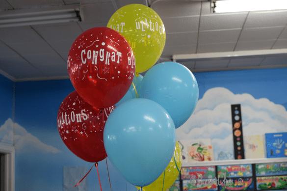 graduation, balloons