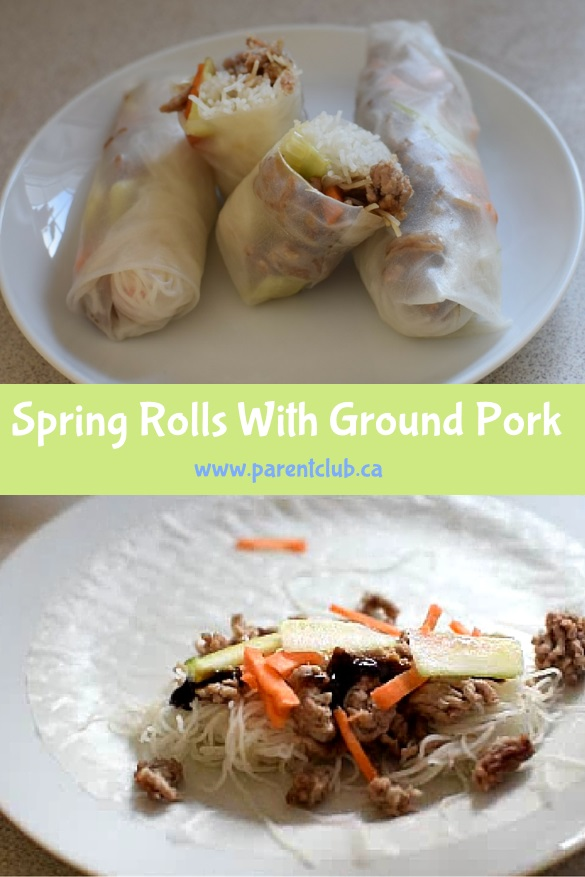 Spring Rolls With Ground, recipe, food, ground pork