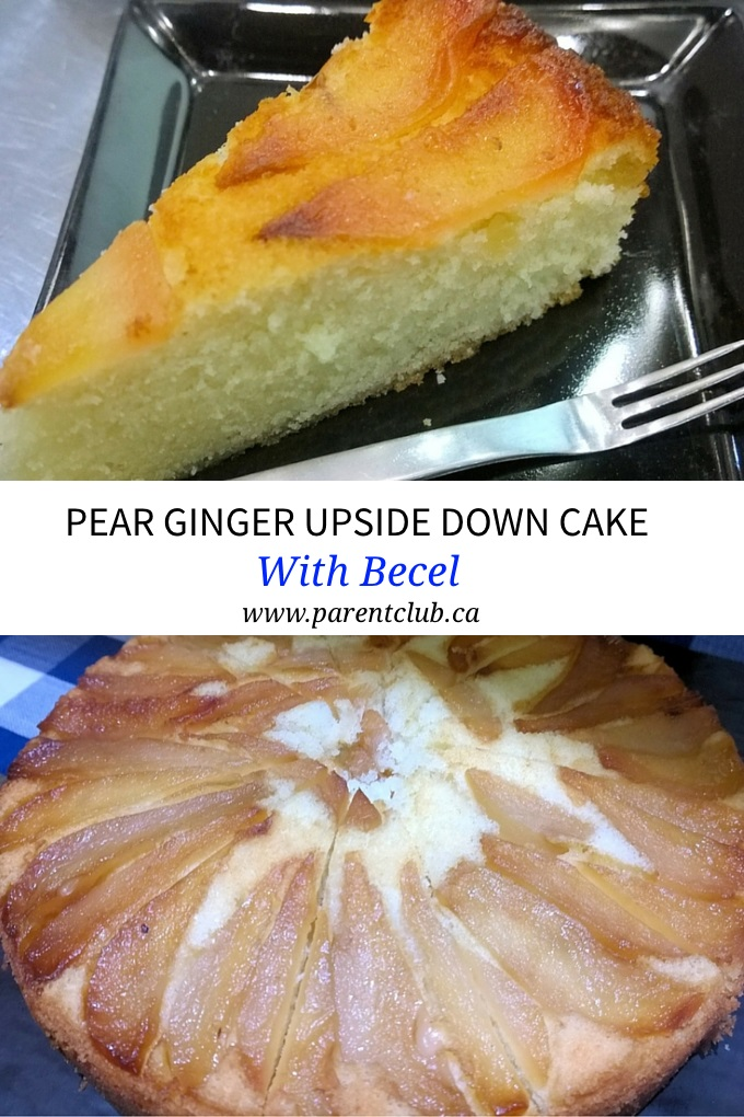 Pear Ginger Upside Down Cake with Becel