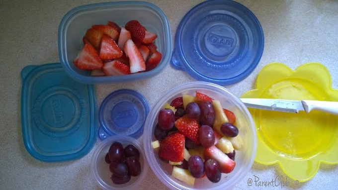 Prep for the week ahead GLAD pre-cut fruit and store