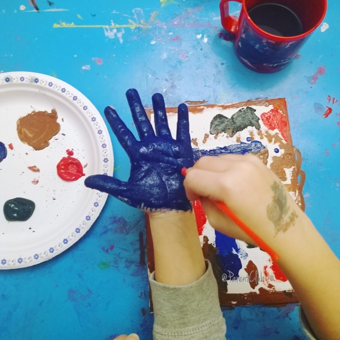 Moms - Say Yes you can, boy painting, arts n crafts, kids