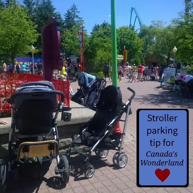 Stroller Parking Tip for Canada's Wonderland, www.parentclub.ca