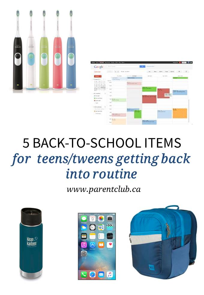 5 back to school items for teens tweens getting back into routine
