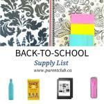 Back-to-School Supply List