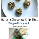Banana Chocolate Chip Bites 3 ingredient snack