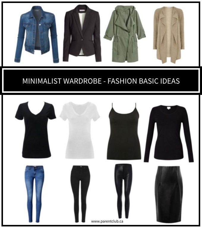 Minimalist wardrobe fashion basic ideas -great Spring outfits via www.parentclub.ca