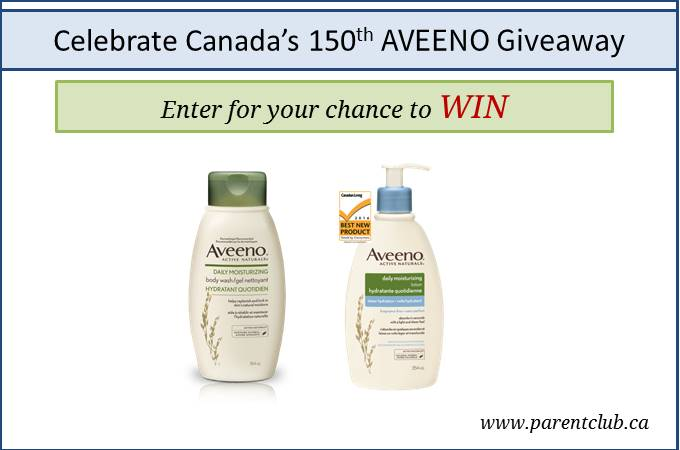 Celebrate Canada's 150th Aveeno Giveaway via www.parentclub.ca