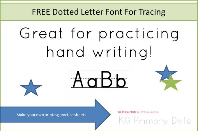 FREE Dotted Letter Font For Tracing |