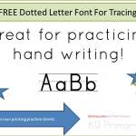 FREE Dotted Letter Font For Tracing