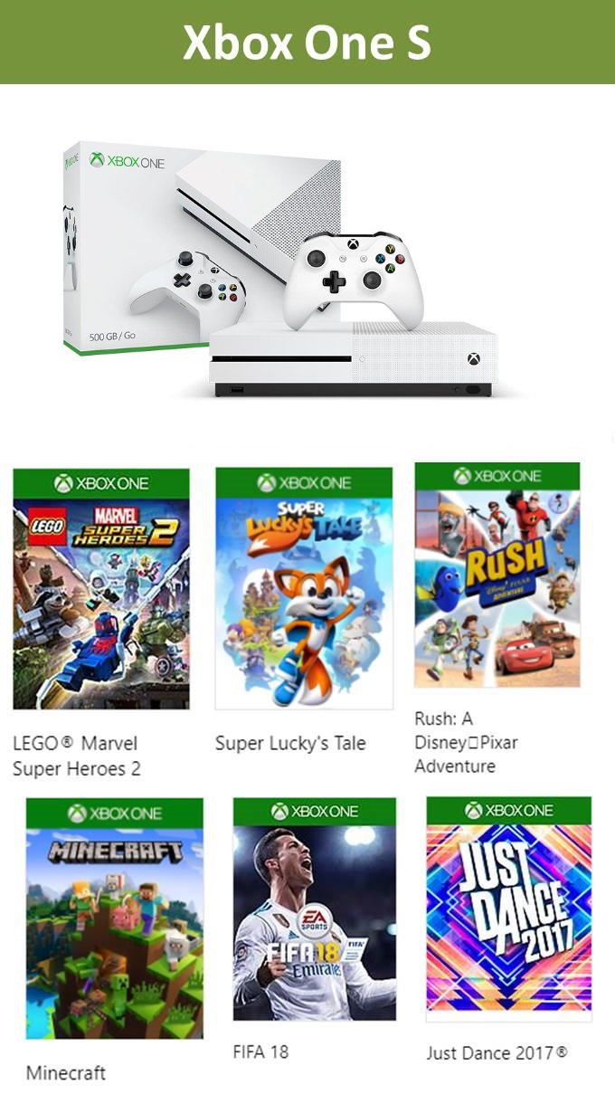 XBox One S for the holidays gift ideas