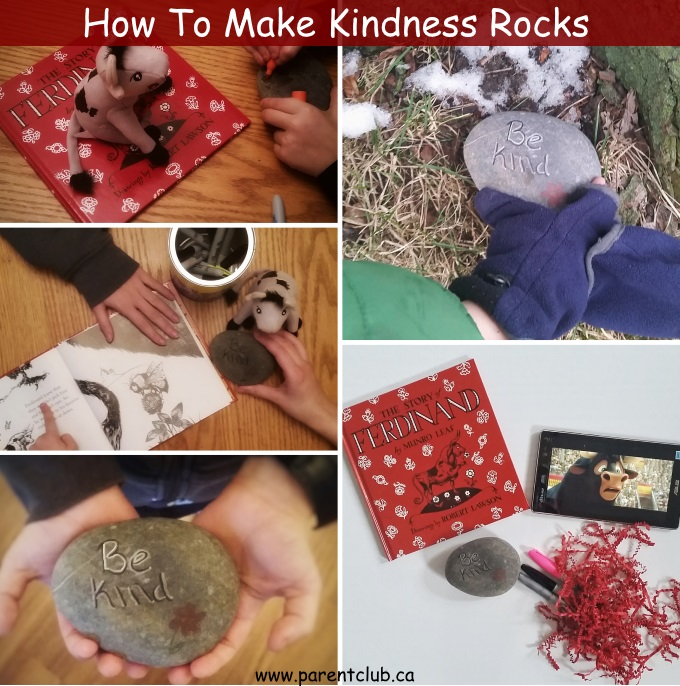 How To Make Kindness Rocks inspiring kindess and friendship via www.parentclub.ca