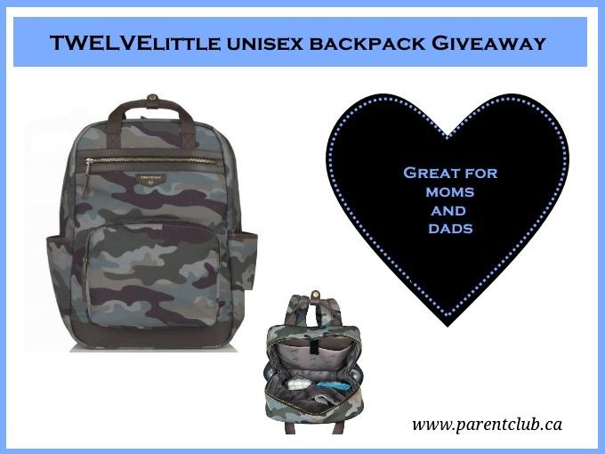 Twelvelittle unisex backpack giveaway diaper bag via www.parentclub.ca diaperbag