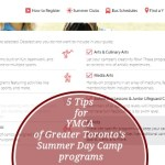 5 Tips on YMCA of Greater Toronto's Summer Day Camp programs via www.parentclub.ca enroll now