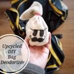 Upcycled DIY bag deodorizer EASY via www.parentclub.ca
