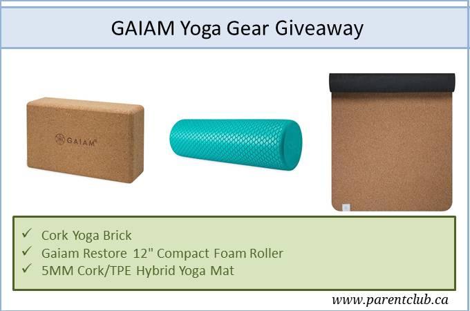 Gaiam Yoga Gear Giveaway via www.parentclub.ca