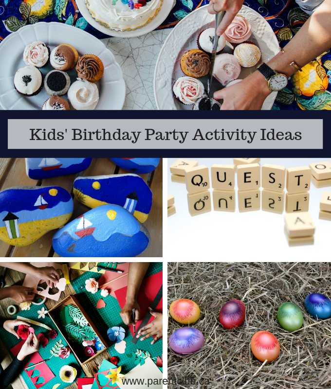 Kids' Birthday Party Activity Ideas via www.parentclub.ca