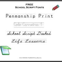 Free School Script Fonts