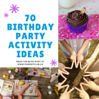 70 Birthday Party Activity Ideas via www.parentclub.ca, party games for kids, kids activities