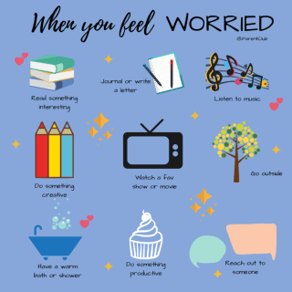 What to do when you feel worried via www.parentclub.ca