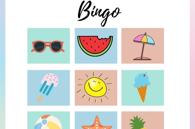 summer bingo for kids via www.parentclub.ca, summer bingo, kids activities, summer activities for kids, reading activities for kids