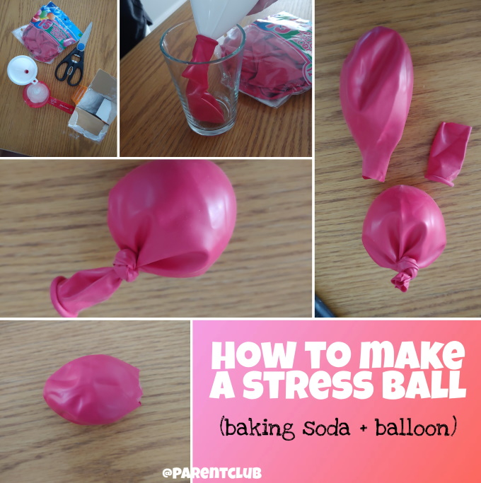 how to make a stress ball via www.parentclub.ca