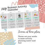 This Easy Summer Activity Calendar might help planning summer activities for kids a little easier!
