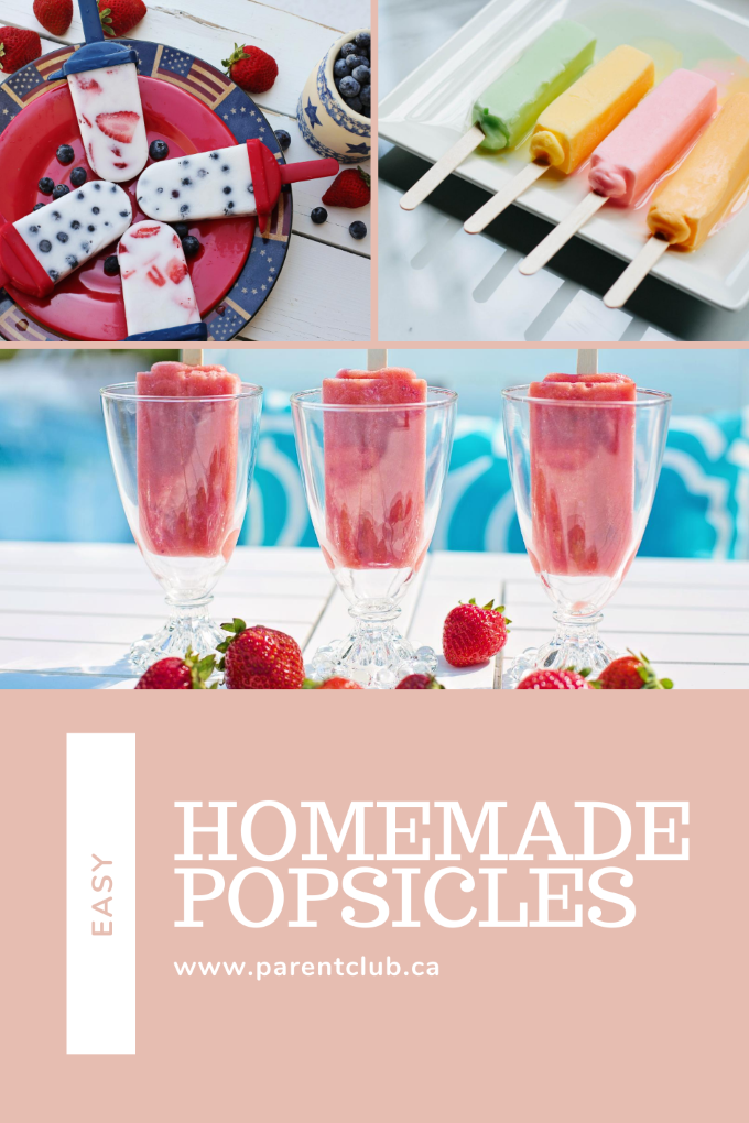 Easy Homemade Popsicle via www.parentclub.ca, popsicle recipes, summer food ideas, kids snacks