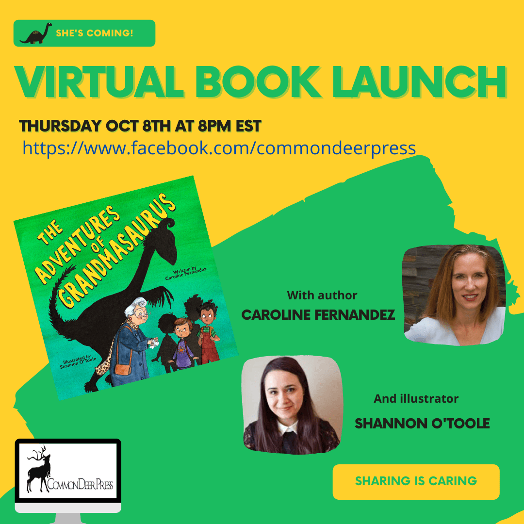 The Adventures of Grandmasaurus Virtual Book Launch with Caroline Fernandez