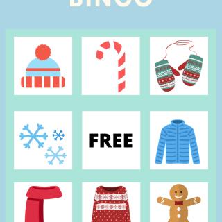 Winter Bingo For Kids via www.parentclub.ca, kids activities, family fun, winter activities for kids