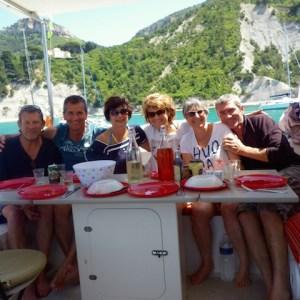 Cassis avec Bernadette, Eliane, Jean-Michel et Denis