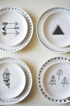 diy porcelaine mug assiette feutre (2)