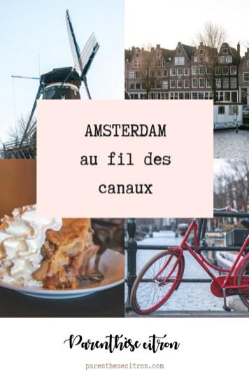 Amsterdam, au fil des canaux