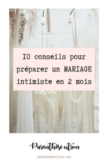 10 conseils pour organiser un mariage intimiste en seulement 2 mois
