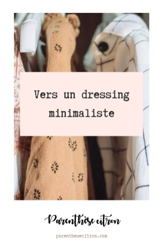 Vers un dressing minimaliste
