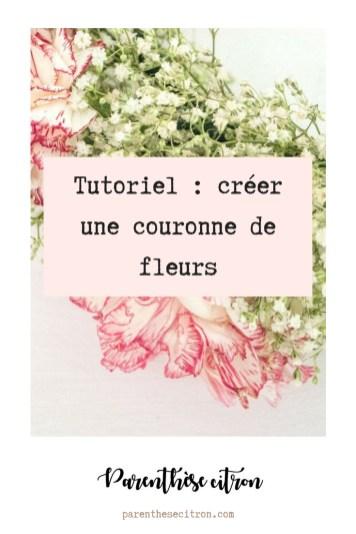 Tutoriel : créer une couronne de fleurs