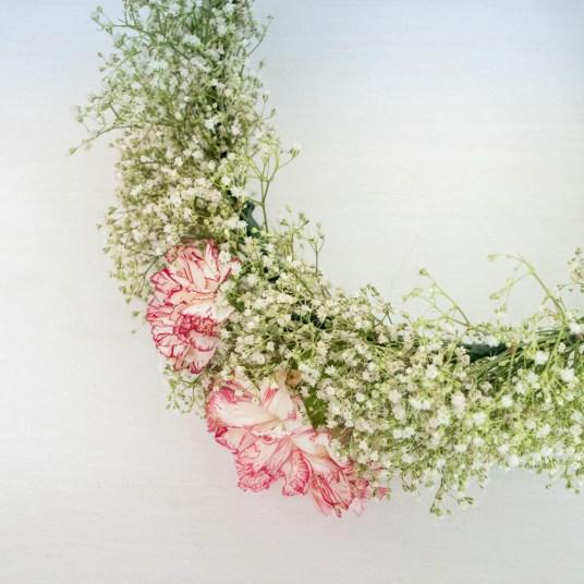 tutoriel couronne de fleurs