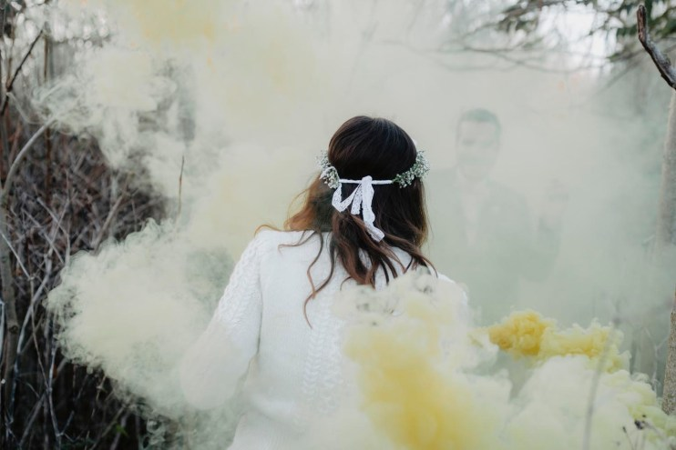 smoke grenades en photo