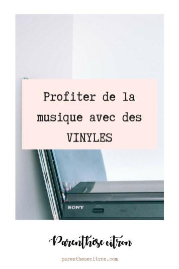 Profiter de la musique avec des vinyles